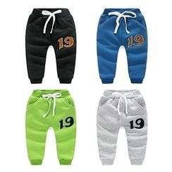WellKids - Kids Drawstring Lettering Thermal Sweatpants