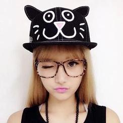 卿本佳人 - 貓咪印花棒球帽