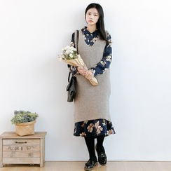 Forest Girl - Plain Knit Tank Dress