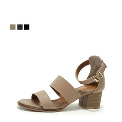 MODELSIS - Genuine Leather Buckled Sandals