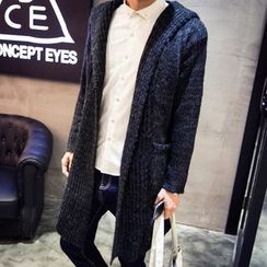 maxhomme - Ribbed Long Cardigan