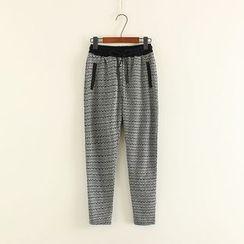 Mushi - Patterned Drawstring Sweatpants