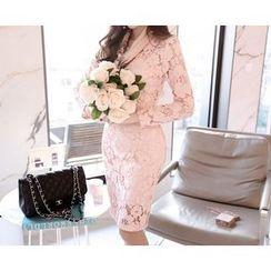 Marlangrouge - Lace Sheath Dress