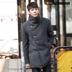 DANGOON - High-Neck Diagonal-Buttoned Coat
