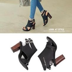 REDOPIN - Faux-Leather Sandals