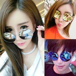 OJOS - Round Mirror Sunglasses