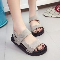 Laceuplux - Velcro Platform Sandals