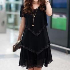 Eloqueen - Layered Chiffon Dress
