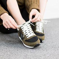VIVIER - Lace-Up Faux-Suede Sneakers