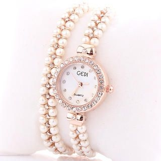 Miss Girl - Rhinestone Beaded Bracelet Watch