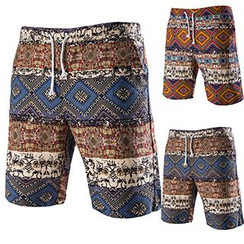 Fireon - Patterned Drawstring Shorts