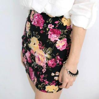 Tokyo Fashion - Floral Miniskirt
