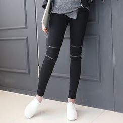 DANI LOVE - Zip-Trim Skinny Pants