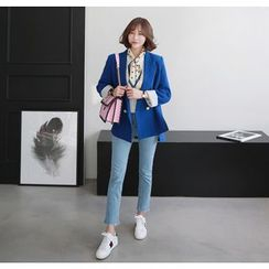 Miamasvin - Asymmetric-Hem Double-Breasted Jacket