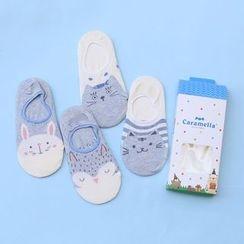 Socka - 4雙裝可愛卡通船襪