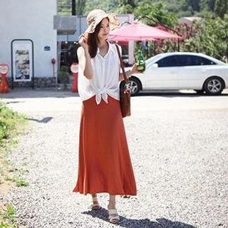 MASoeur - Band-Waist Maxi Skirt