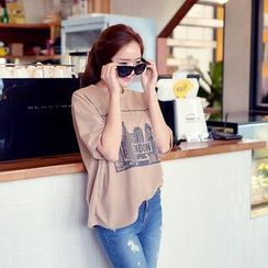 Envy Look - Round-Neck Printed T-Shirt