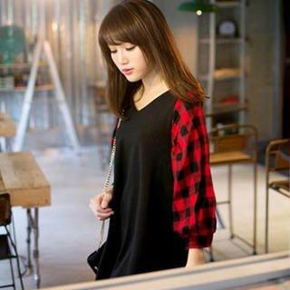 Tokyo Fashion - Check-Sleeve Tunic