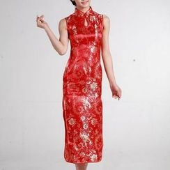 Veiltail - Printed Qipao