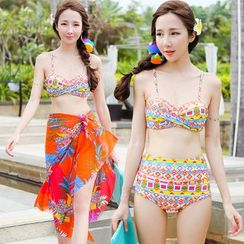 Beach Date - Patterned Bikini Set