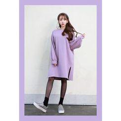 Dalkong - Drop-Shoulder Slit-Side Dress