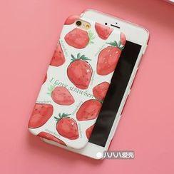 Hachi - Strawberry Print Phone Case - Apple iPhone 5s / SE / 6 / 6 Plus / 7 / 7 Plus