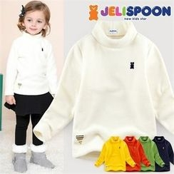 JELISPOON - Kids Mock-Neck Fleece Top
