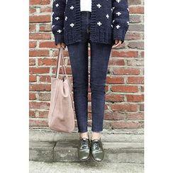 CHERRYKOKO - Stitch-Trim Skinny Jeans
