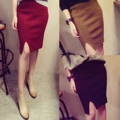 Autunno - Slit-Front Pencil Skirt