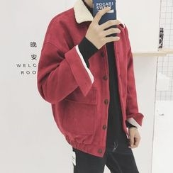JUN.LEE - Faux Suede Padded Jacket
