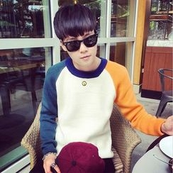 JUN.LEE - Color Block Sweater