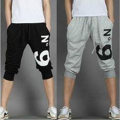 Aozora - 字母短款運動褲