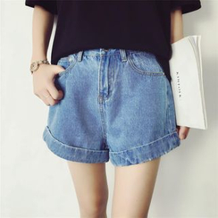 HazyDazy - Cuffed Denim Shorts
