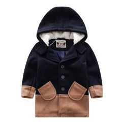 Endymion - Baby Hooded Color Block Coat