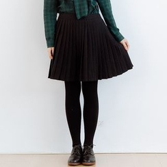 Forest Girl - Pleated A-Line Skirt