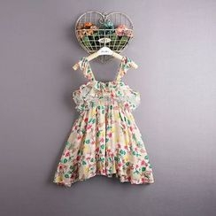 Kidora - Kids Floral Print Strappy Dress