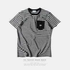 Newin - 條紋短袖T恤
