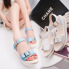 Sunsteps - Buckled Platform Sandals