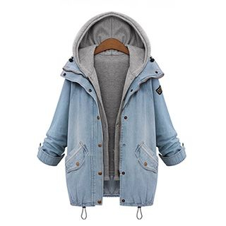 Quintess - Set: Denim Jacket + Hooded Vest