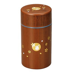 Hakoya - Hakoya Tea Caddy L Mokume Hanko Usagi