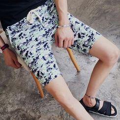 Fisen - Drawstring Camo Shorts