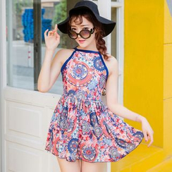 Sweet Splash - Patterned Swimdress