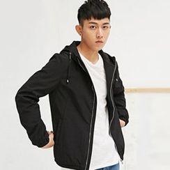 HEIZE - Plain Hooded Jacket