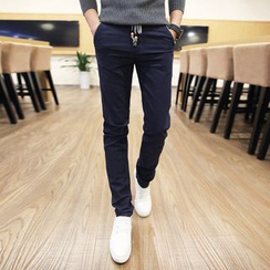 Alvicio - Drawstring Straight Fit Pants