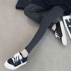 NEUF - 孕婦細直條紋內搭褲