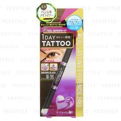 K-Palette - 1 Day Tattoo Real Lasting Eye Pencil 24h WP (#BB001 Brown Black)