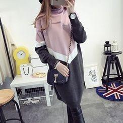FR - Colour Block Long Sweater