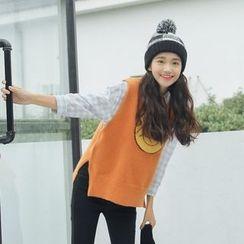 Ashlee - Smile Face Knit Vest