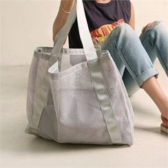 Wifky - Mesh Beach Shoulder Bag with Pouch