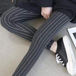 NANING9 - Cotton Blend Pinstripe Leggings